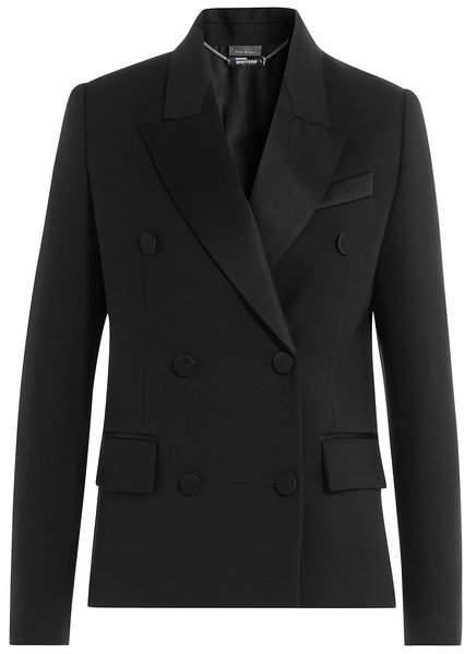Alexander McQueen Wool Blazer with Silk