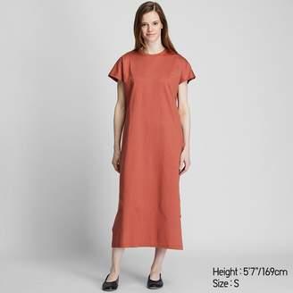 Uniqlo WOMEN Mercerized Cotton Short Sleeve Long Dress