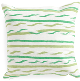 Made In USA 20x20 Indoor Outdoor Twist Stripe Pillow