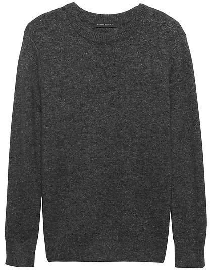 Banana Republic Chunky Metallic Crew-Neck Sweater