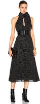 Saint Laurent Crepe Viscose Glitter Dots Dress