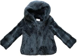 Yves Salomon Green Mink Coat for Women