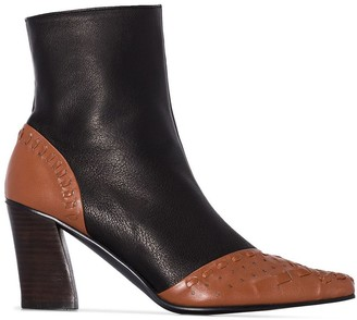Reike Nen Woven Detail Ankle Boots