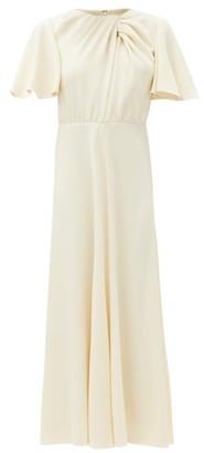 Giambattista Valli Knotted-neck Crepe Dress - Ivory