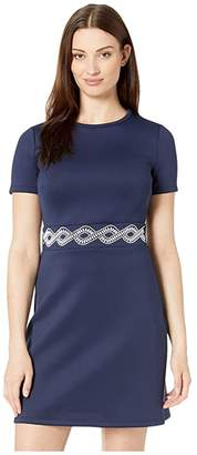 MICHAEL Michael Kors Embellished Fit and Flare Dress (True Navy) Women's Clothing