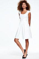 Lands' End Women's Pleated A-Line Dress-Jet Black