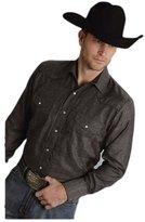 Roper Western Shirt Mens L/S Snap Dobby L 01-001-0017-0727 TA