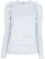 Carven Ruffled jersey top