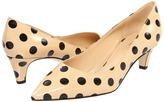 Kate Spade Scene (Beige Black Dot Patent) - Footwear