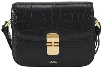 A.P.C. Grace small bag crocodile effect