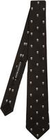 Alexander McQueen Skull and pin-dot jacquard silk tie