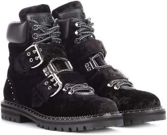 Jimmy Choo Breeze Flat velvet ankle boots