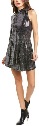 Black Halo Darby Mini Dress