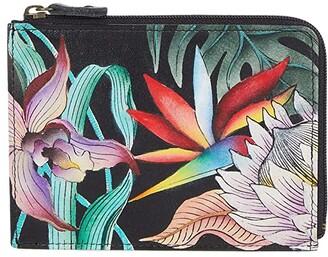 Anuschka Key Zip Case 1160 (Island Escape Black) Handbags