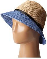 Scala Crochet Raffia Six-Way Fedora Fedora Hats