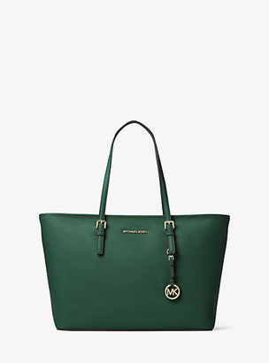 MICHAEL Michael Kors Jet Set Medium Saffiano Leather Top-Zip Tote Bag