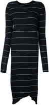 Bassike striped fitted dress - women - Cotton - XS