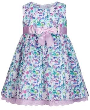 Blueberi Boulevard Bonnie Baby Baby Girls Eyelet-Trim Floral-Print Dress