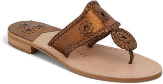 Jack Rogers Jacks Snake-Embossed Sandals