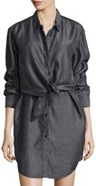 Cheap Monday Great Button-Front Shirtdress, Lord Black