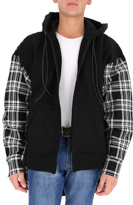 Palm Angels Contrast Check Panel Hooded Jacket