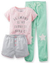 Carter's Girls' 3-Piece Glamour Pajamas