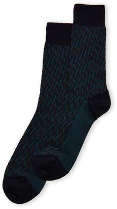 Missoni Diagonal Zigzag Crew Socks