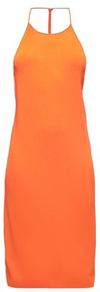 Bottega Veneta Knotted-strap Dress - Orange