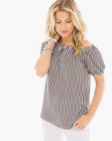 Chico's Boho Striped Off-the-Shoulder Top