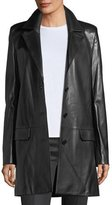 Helmut Lang Matrix Button-Front Leather Blazer Jacket