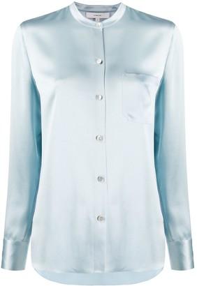 Vince mandarin collar slim fit shirt