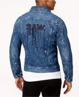G Star Men's Paint-Splattered Denim Jacket, Created for Macy's