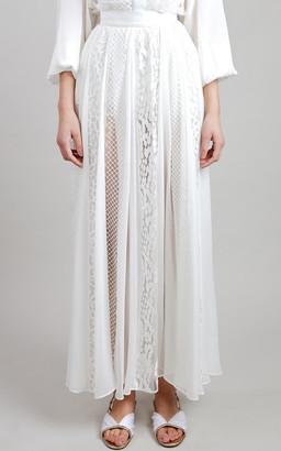Elie Saab Lace Maxi Skirt