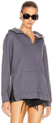 John Elliott Zip Hooded Villain Sweatshirt in Dusty Navy | FWRD
