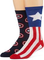 Marvel Captain America 2-pk. Casual Crew Socks