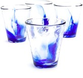 Bormioli Murano Blue Long Drink Glasses - Set of 4