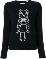 Chinti and Parker cashmere owl outline sweater