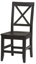Linon Elsa Dining Side Chair, Ebony with Rub Thru