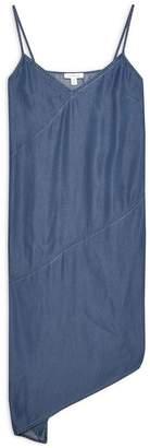 Topshop Asymmetrical Denim Midi Dress