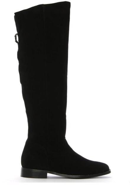 Daniel Elainer Black Suede Diamante Embellished Knee Boots