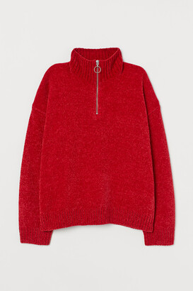 H&M Chenille Sweater with Zipper