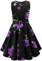 Black Butterfly Clothing Black Butterfly Kids 'Audrey' Vintage Infinity 50's Dress (, 11-12 YRS)