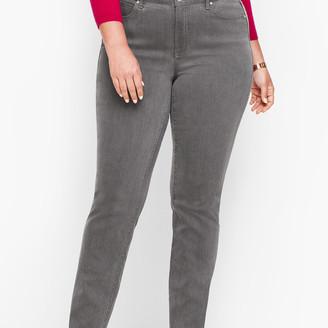 Talbots Plus Size Straight Leg Jeans - Deep Grey