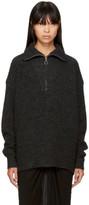 Etoile Isabel Marant Black Declan Zip Sweater