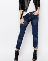 Blank NYC Patched Boyfriend Jeans