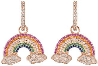 Latelita Rainbow Colorful Drop Earrings Rosegold