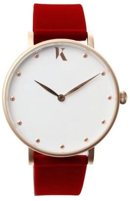 Ksana Ruby Red & Rose Gold Vegan Watch - 38mm