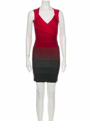 Herve Leger Amee Mini Dress Red