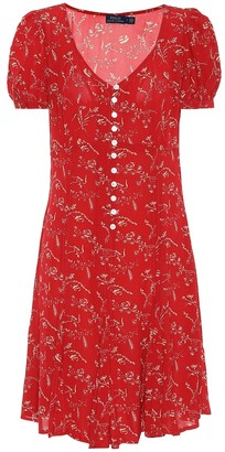 Polo Ralph Lauren Floral crepe de chine minidress