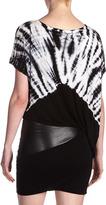 Young Fabulous & Broke Young Fabulous and Broke Anka Tie-Dye Faux-Leather Dress, Black Skeleton